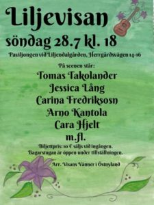 Liljendalsvisan 2019 - NordVisas festivallista @ Liljendalgården i Sävträsk | Finland
