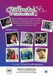 Gällersta visfestival 2018 @ Gällersta forngård | Attersta | Örebro län | Sverige