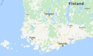 Karta södra Finland